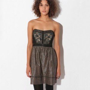 Urban Outfitters Strapless Metallic Dress Size 6